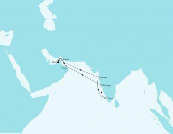 Route Orient Indien Winter 2018/2019